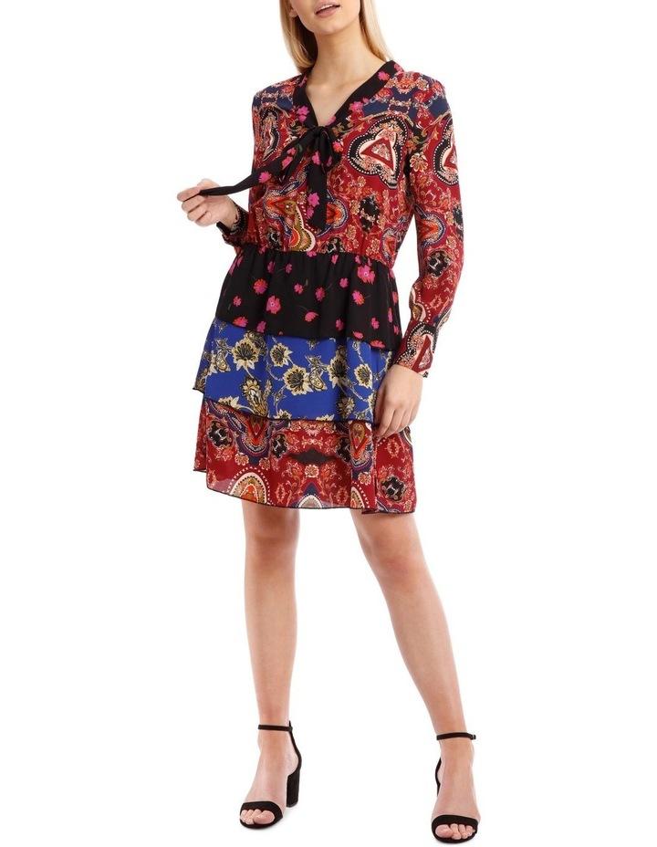 Talia Long Sleeve Short Dress image 1