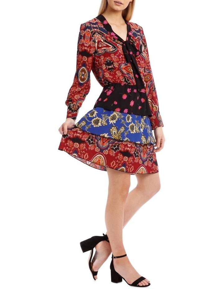 Talia Long Sleeve Short Dress image 2