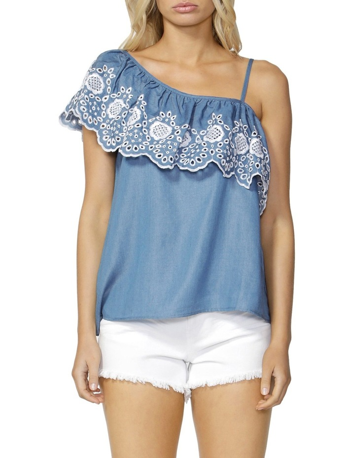 Austin Embroidered Ruffle Top image 1