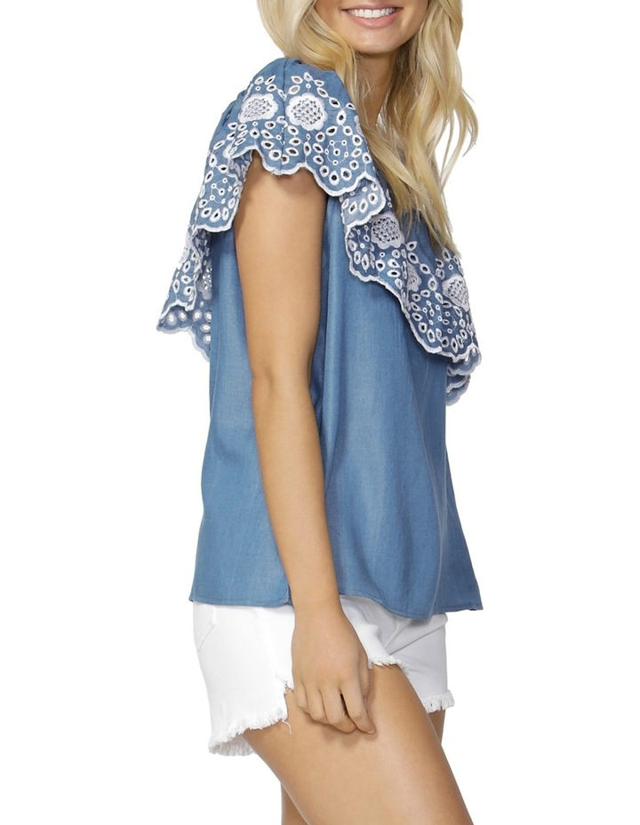 Austin Embroidered Ruffle Top image 3