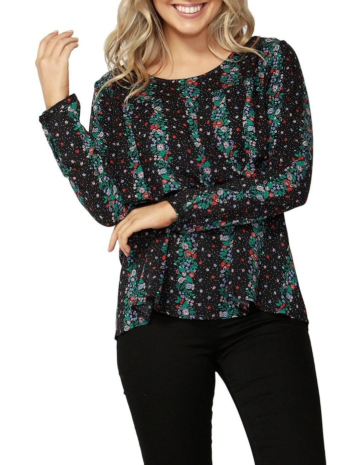 Falling Florals Layered Blouse image 1
