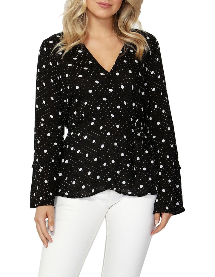 Spot On Wrap Blouse image 1