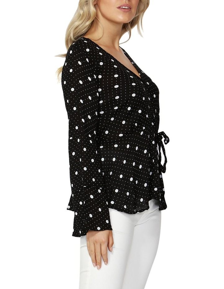 Spot On Wrap Blouse image 3