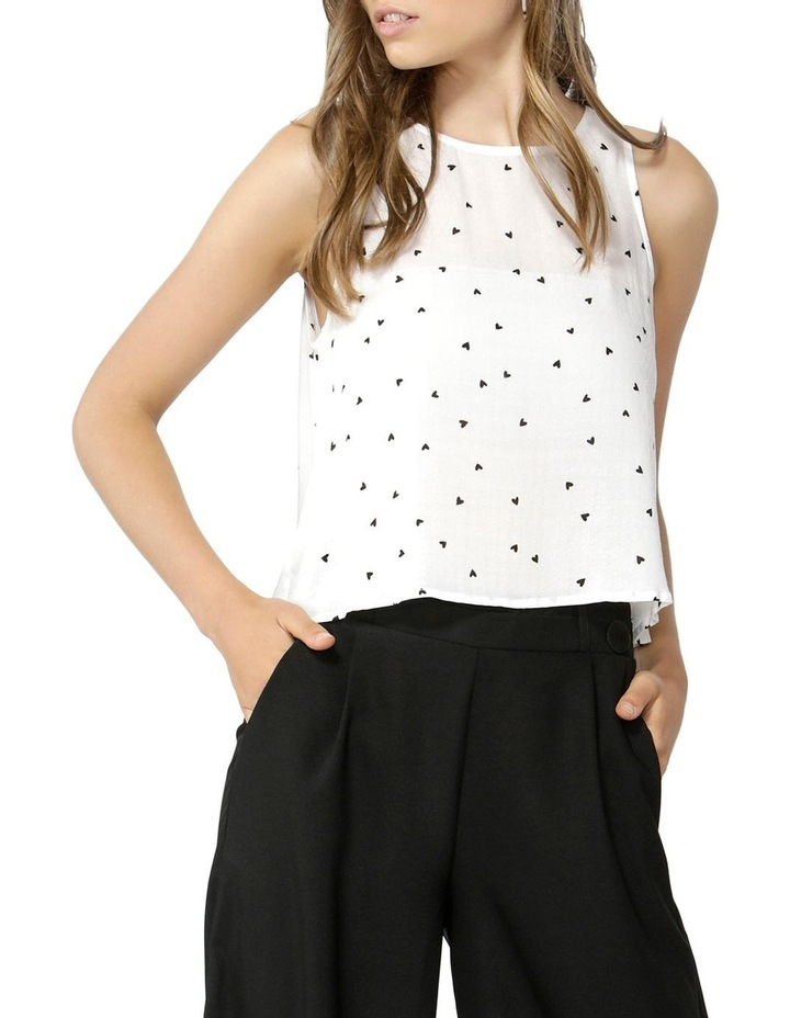 Floating Hearts Crop Blouse image 1