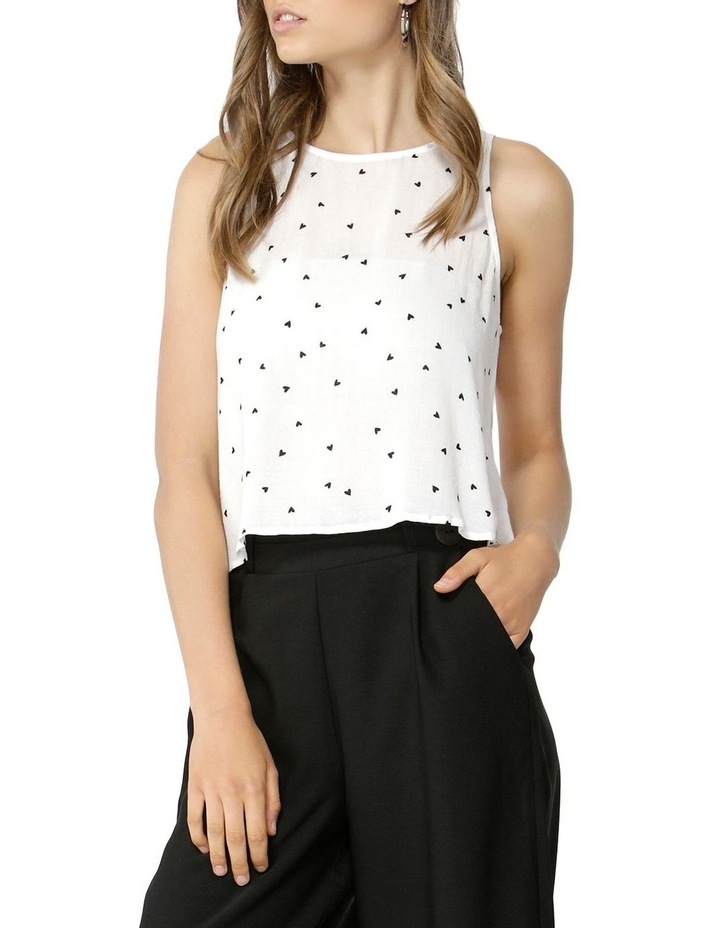 Floating Hearts Crop Blouse image 2