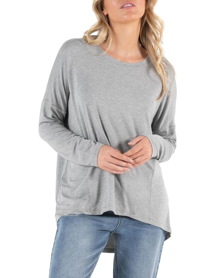 Wellington Grey Marle Long Sleeve Tee image 2