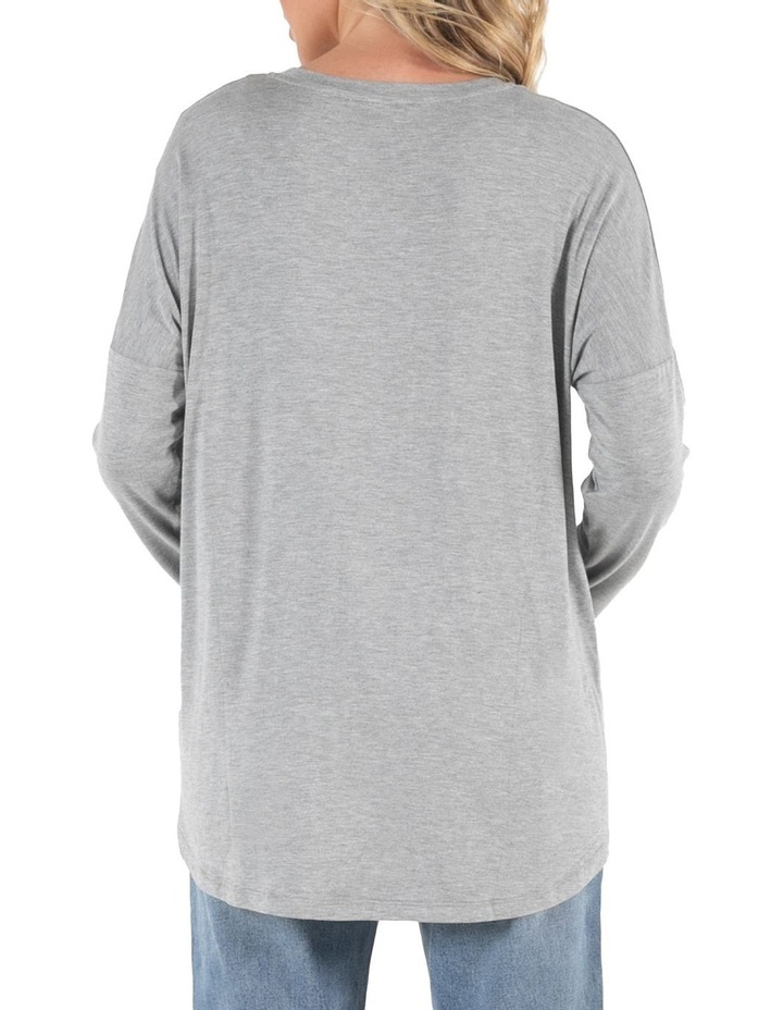 Wellington Grey Marle Long Sleeve Tee image 4