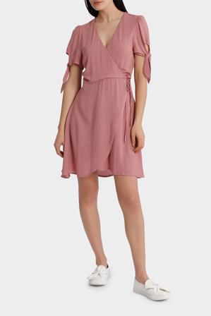 Sass - Emelia Tie Sleeve Wrap Dress