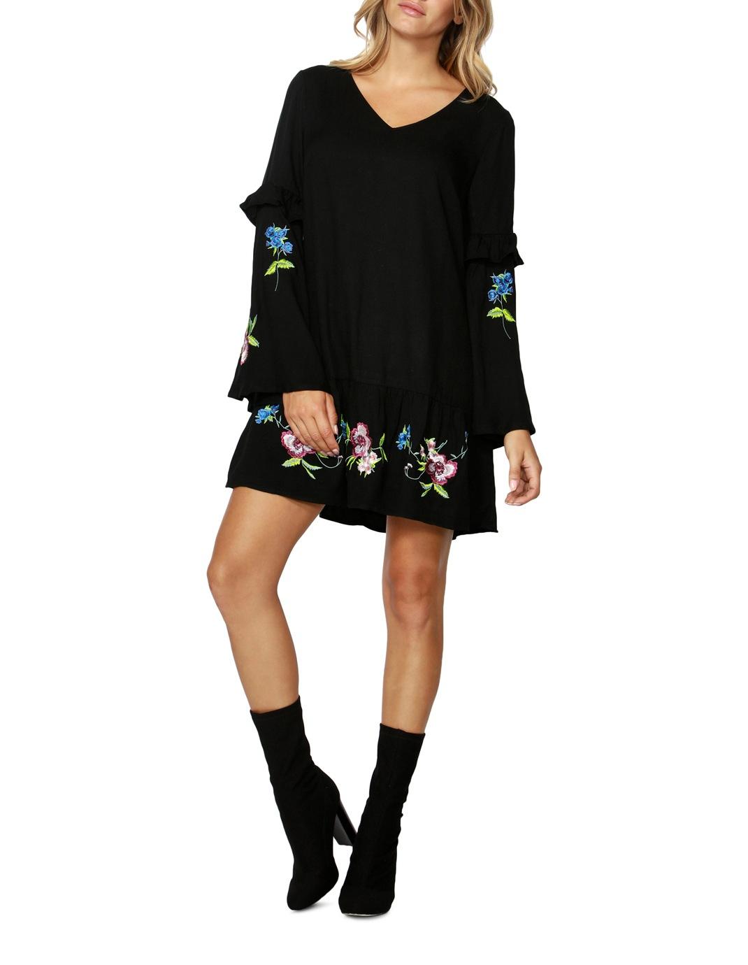 Sass Thalia Embroidered Dress Myer Online Fiction Peplum Purple