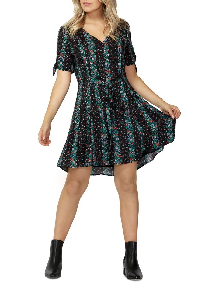 Falling Florals Tie Dress image 1