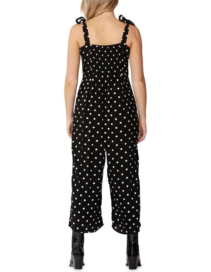 Black/Wht Spot Spotty Tie Jumpsuit image 4