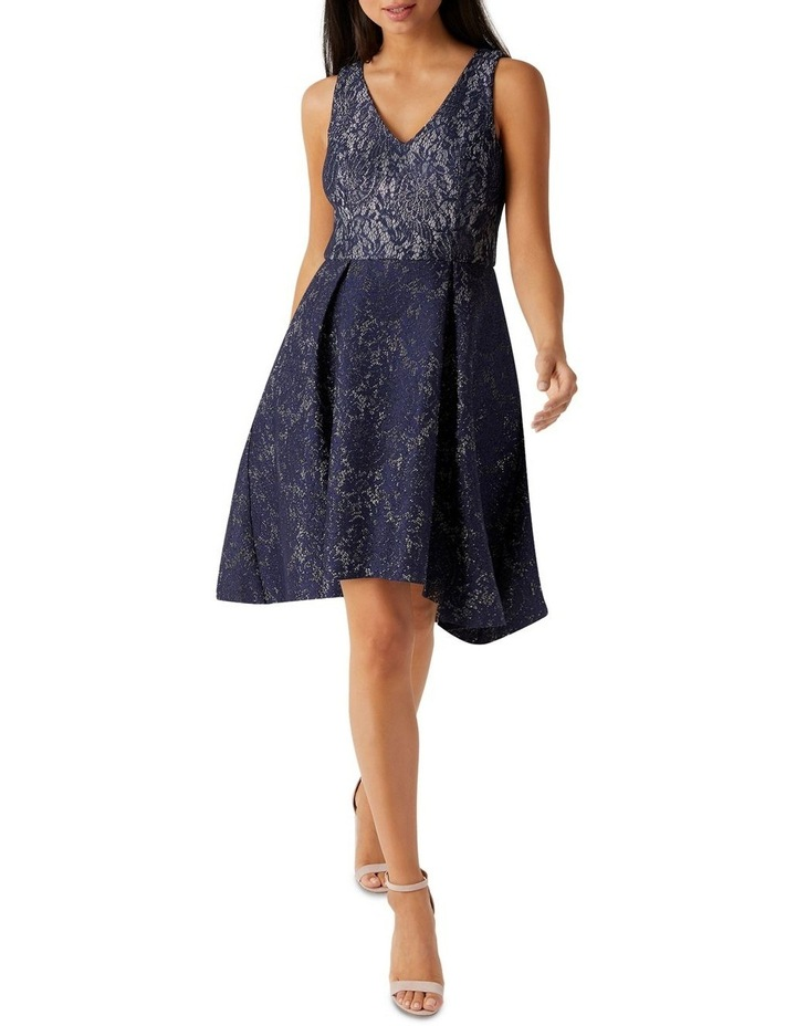 Bonded Lurex Lace Skater Dress image 1