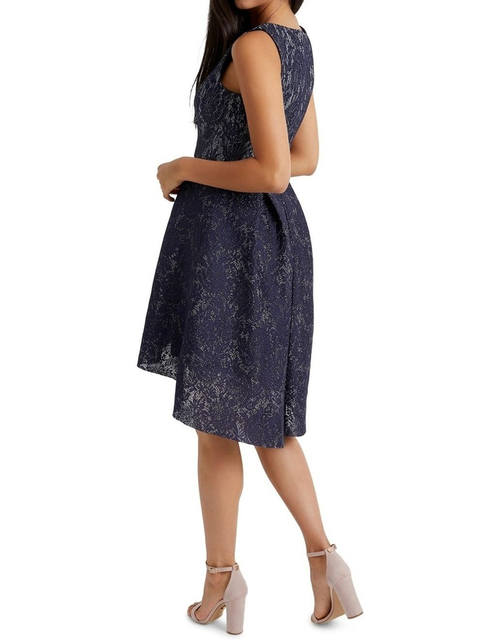 Bonded Lurex Lace Skater Dress image 2