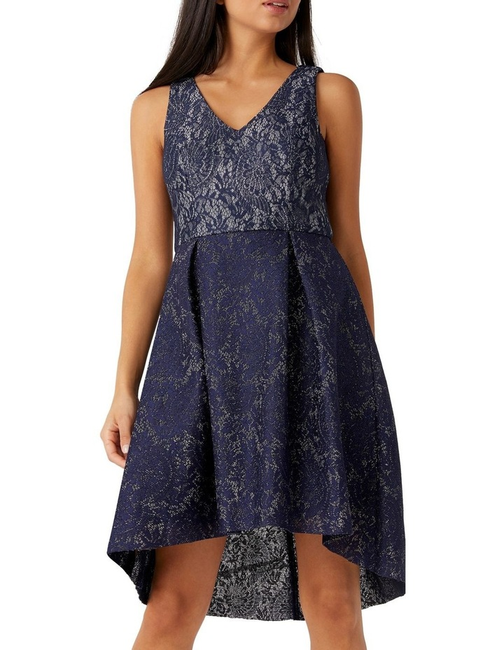 Bonded Lurex Lace Skater Dress image 3