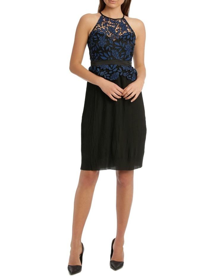 Lace Halter Pleated Skirt Midi Dress image 1 e68c214fc