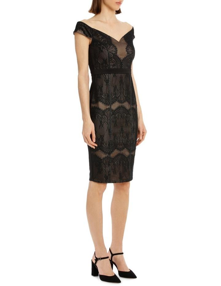 Black Lace Bardot Dress image 4