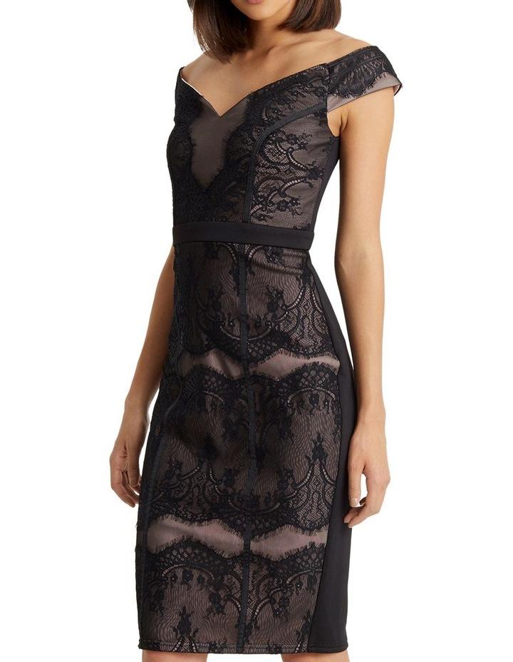 Black Lace Bardot Dress image 5