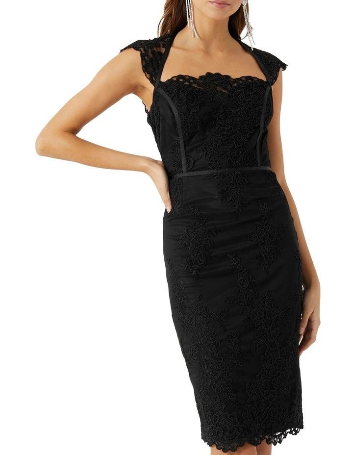 Black Embroidered Corset Dress image 1
