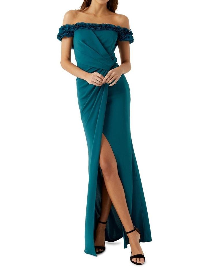Teal Ruffle Trim Dress image 1