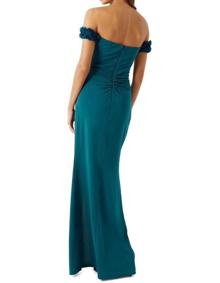 Teal Ruffle Trim Dress image 2