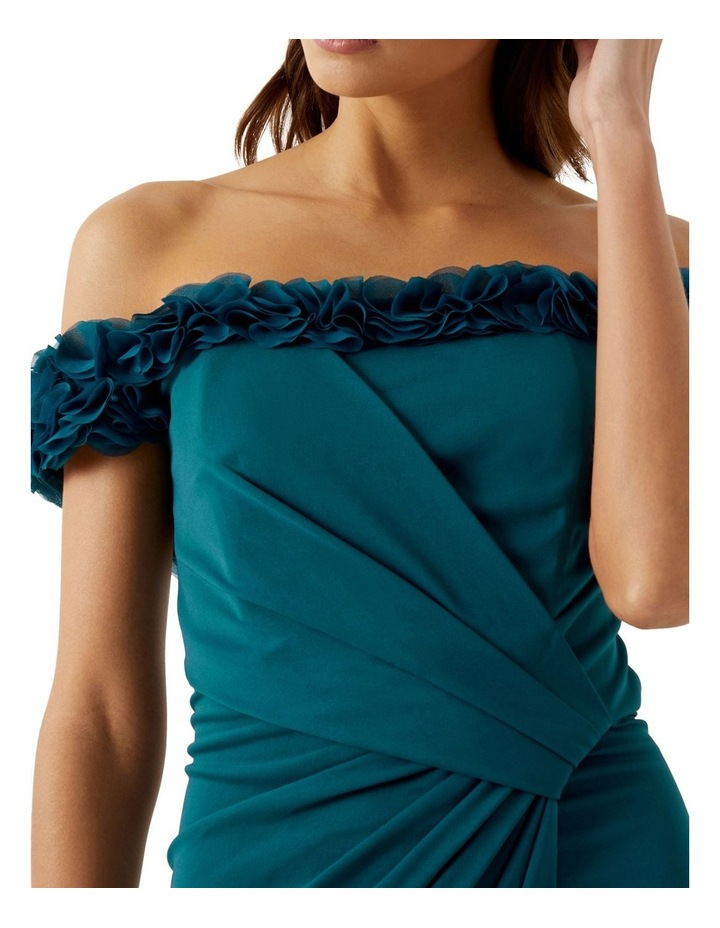 Teal Ruffle Trim Dress image 3