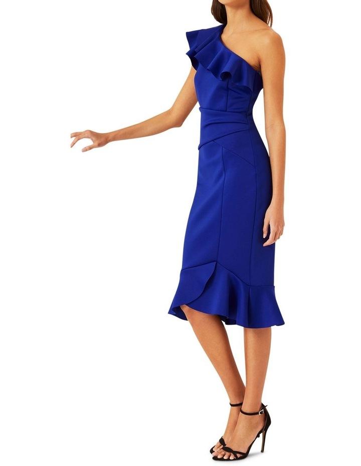 Cobalt Ruffle One Shoulder Bodycon Dress image 2