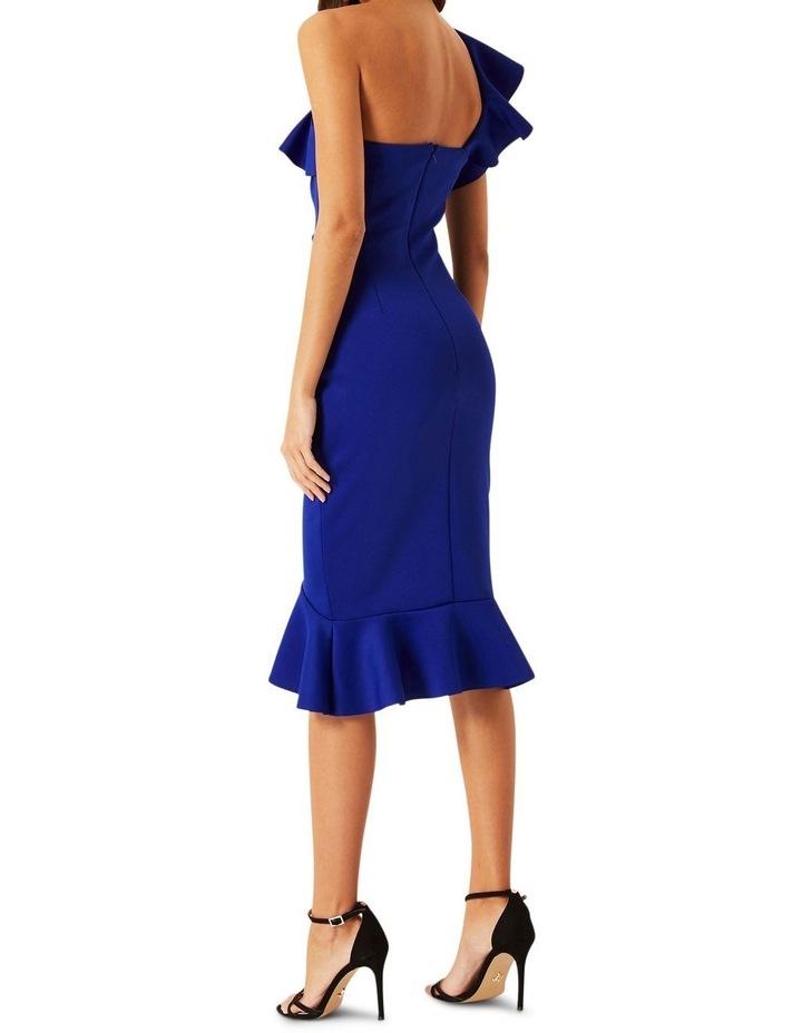 Cobalt Ruffle One Shoulder Bodycon Dress image 3