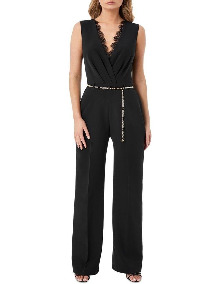 Black Lace Insert Jumpsuit image 1