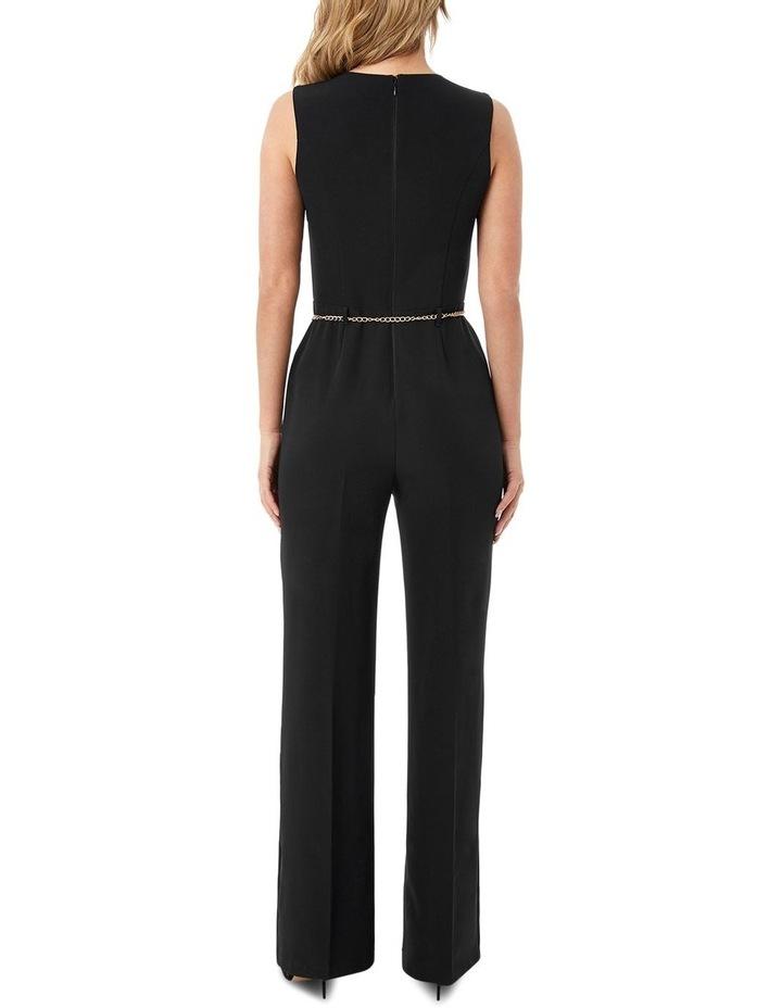 Black Lace Insert Jumpsuit image 2