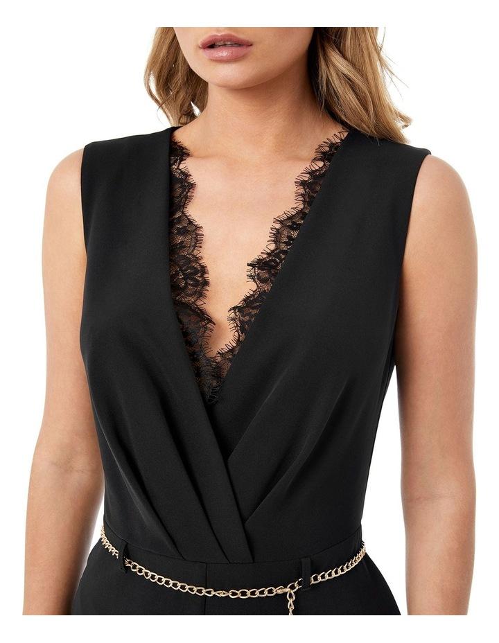 Black Lace Insert Jumpsuit image 3