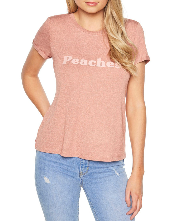 PEACHES TEE image 1