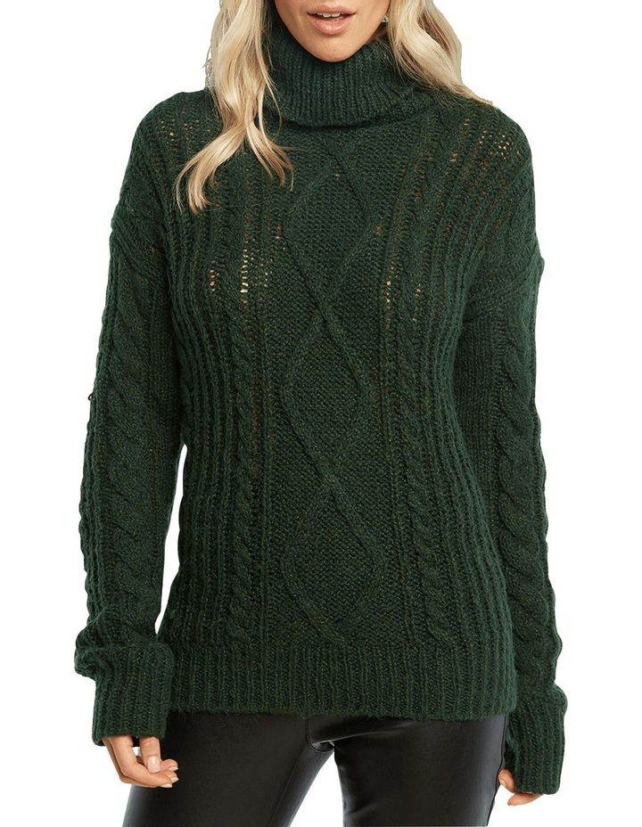 Roll Neck Cable Knit image 5