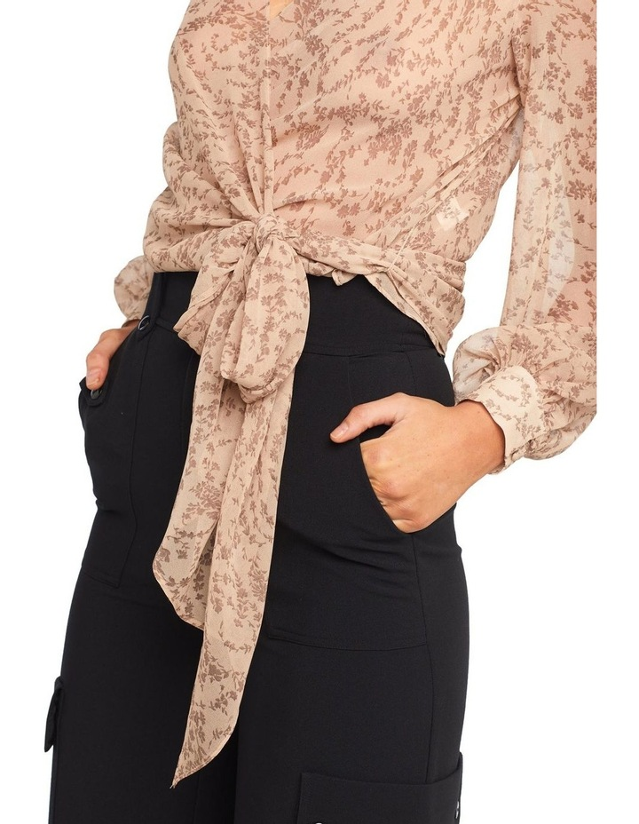 Ditsy Wrap Top image 5