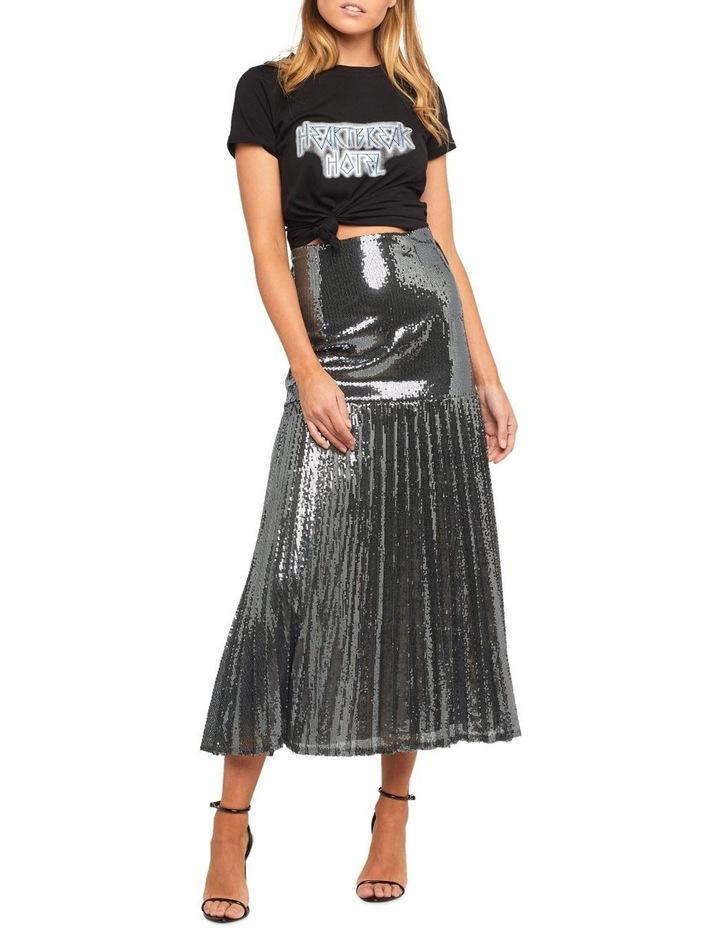 Pleated Sequin Skirt image 1