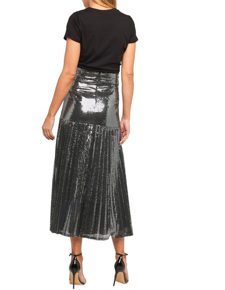 Pleated Sequin Skirt image 2