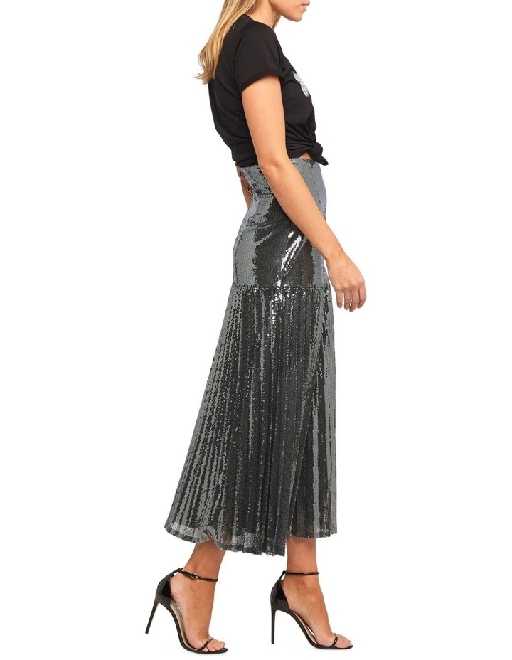 Pleated Sequin Skirt image 3