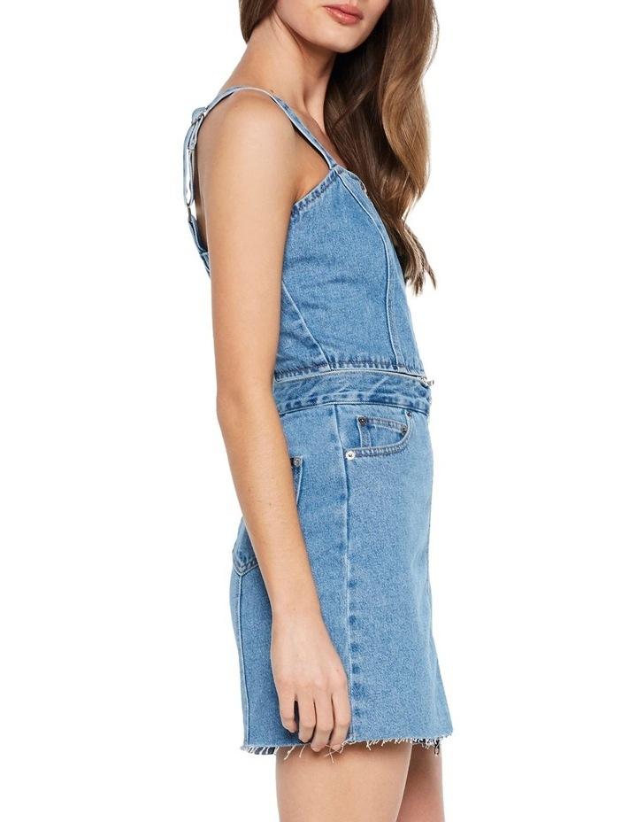 DENIM PINAFORE DRESS image 3