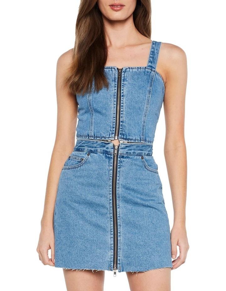 DENIM PINAFORE DRESS image 5