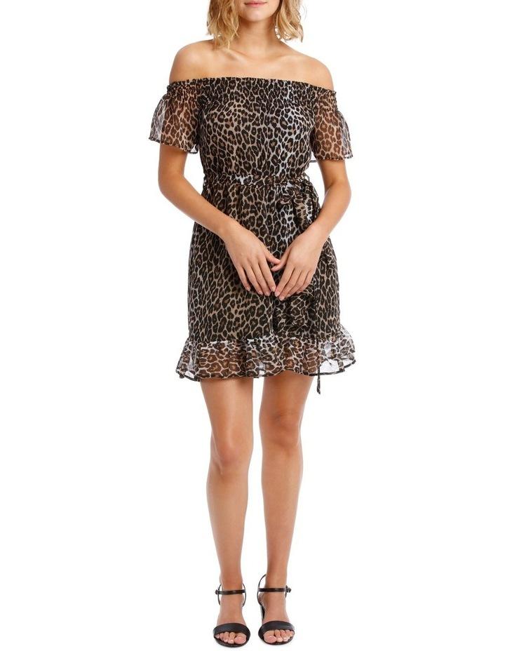 LEOPARD WRAP DRESS image 1
