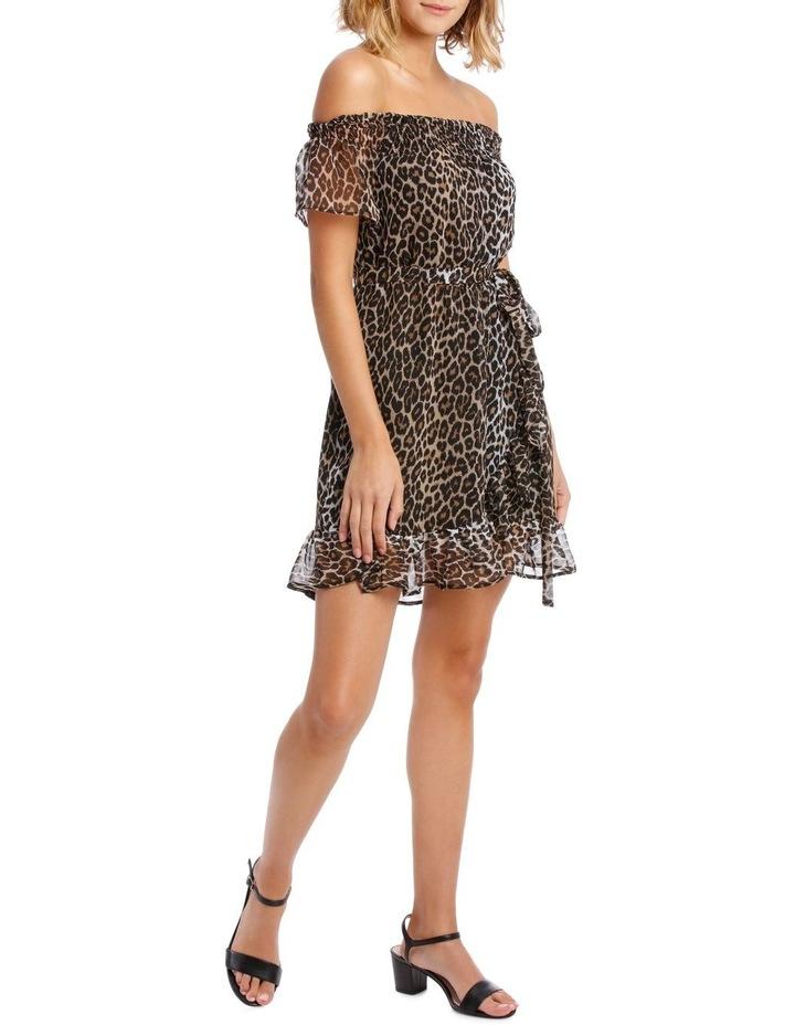 LEOPARD WRAP DRESS image 2
