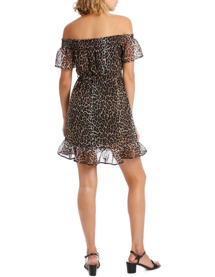 LEOPARD WRAP DRESS image 3