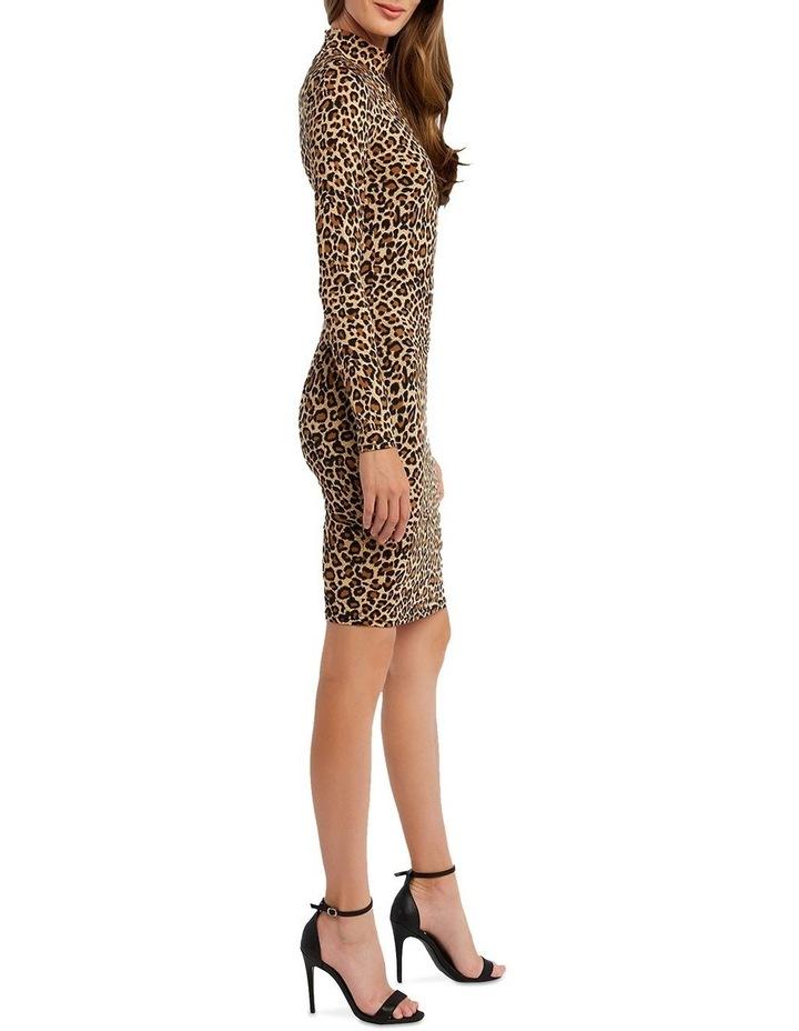 Bardot 53465DB Leopard High Nk Dress image 2