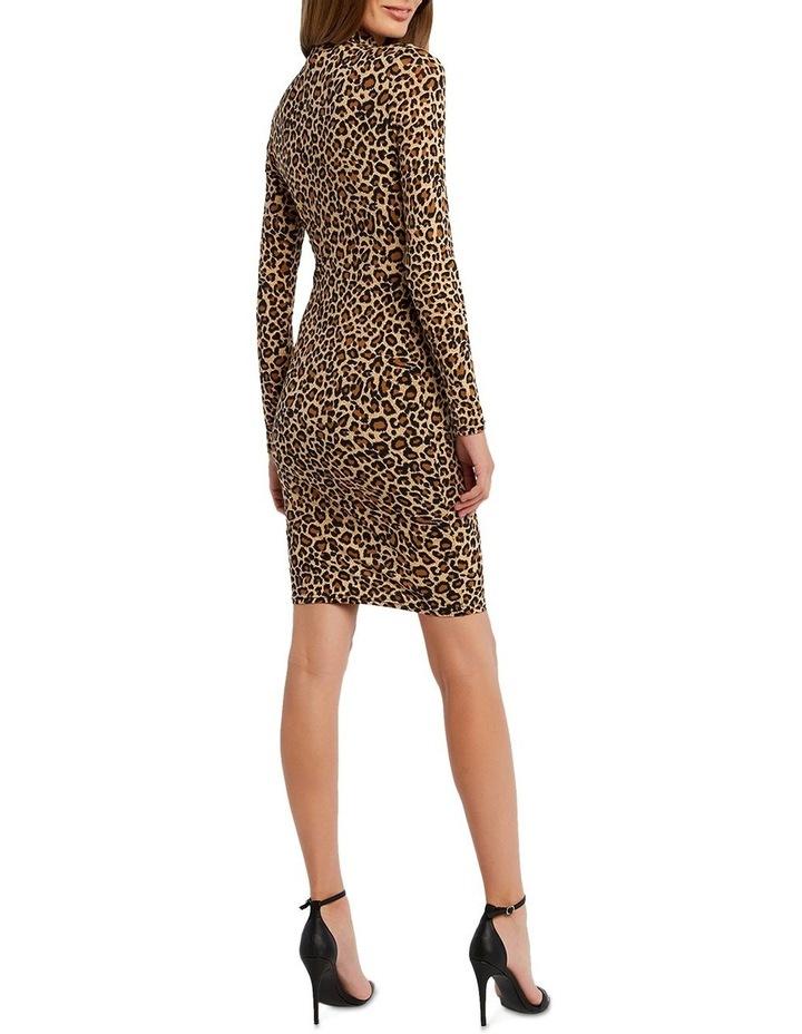 Bardot 53465DB Leopard High Nk Dress image 3