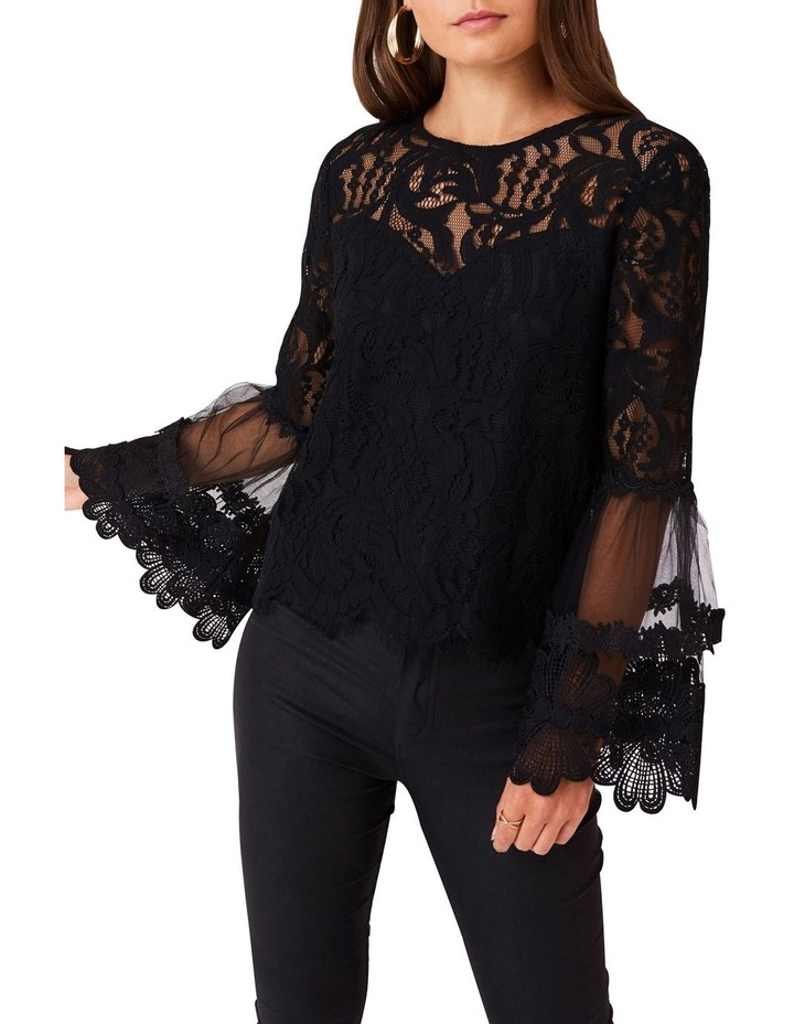 STRAIGHT CUT TOP IN ALL OVER EYELASH LACE image 1