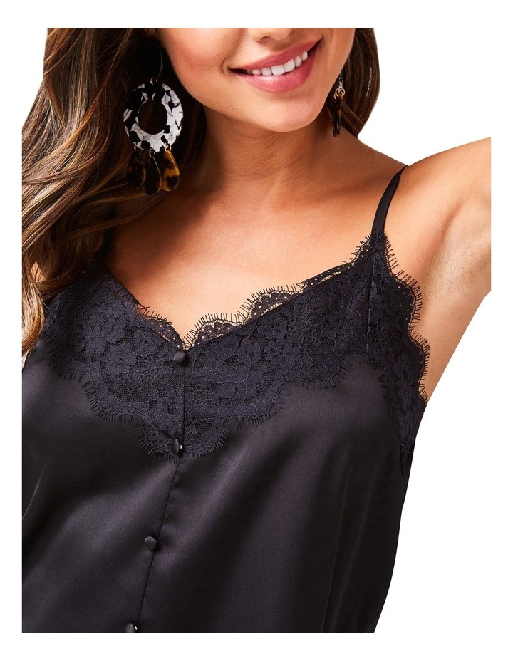 Black Lace Trim Cami image 4