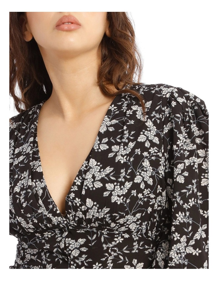 Floral Ruched Seam Blouse image 2