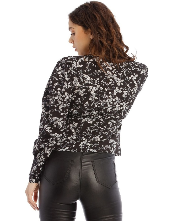Floral Ruched Seam Blouse image 4