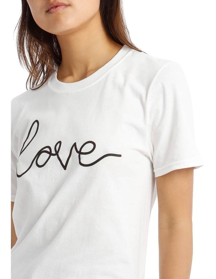'Love' Signature Graphic T-Shirt image 4