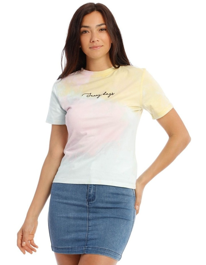 Tie Dye Embroidery Fitted T/Shirt image 1