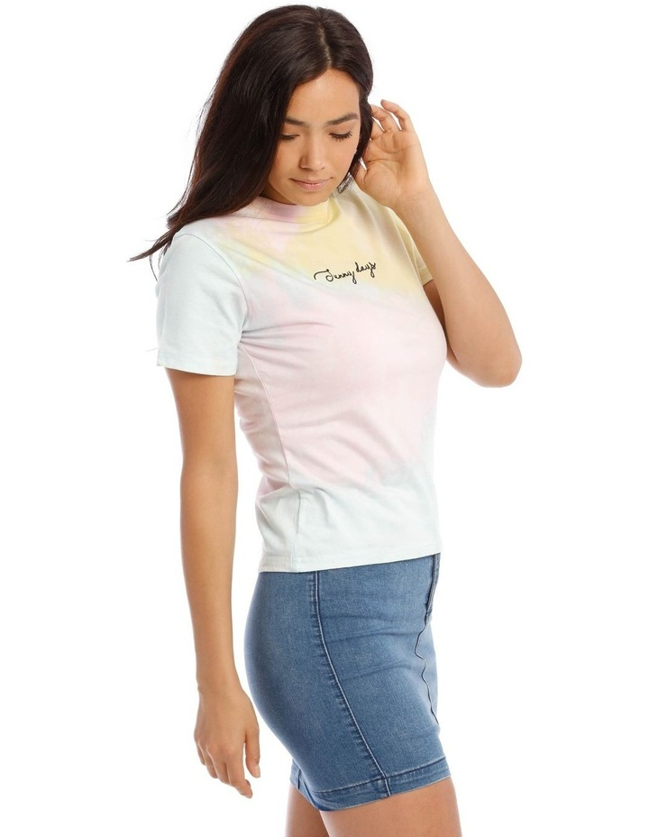 Tie Dye Embroidery Fitted T/Shirt image 2